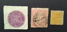 India British Commonwealth Indian States three stamps (1 mint hinged & 2 used)