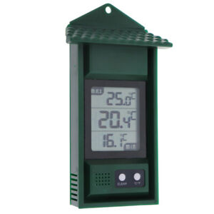 DIGITAL MAX MIN GREENHOUSE THERMOMETER GARDEN INDOOR OUTDOOR - IN-128