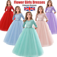 Party Flower Girl Dresses Princess Wedding Bridesmaid Formal Gown Kid Long Dress