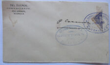 Nicaragua Halbierung Bisected cover Greytown Bluefields 1899 (45859)