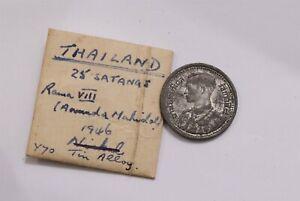 THAILAND 25 SATANG 1946 TIN B32 ZW41