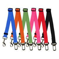 Adjustable Pet Dog Car Safety Seat Belt Harness Restraint Lead Leash Travel Clip