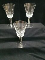 VINTAGE CLARET CRYSTAL CHAMPAGNE COUPE / WINE GLASSES BEAUTIFULL set of 3