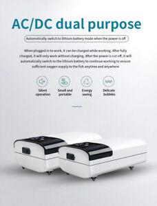 Aquarium Air Pump Rechargeable Portable Fish Dual Tank Oxygen USB Double Output