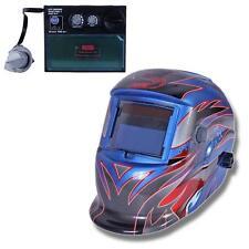 Pro Solar Auto Darkening Welding Helmet Arc Tig Mig Grind Mask Power Tips #Q TR