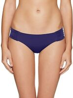 Trina Turk Women's Swimwear Navy Blue Size 10 Bikini Bottom Gathered $56 #035
