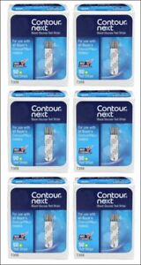 """Contour Next Bayer Blood Glucose Test Strips """"6 Boxes of 50"""" (EXP: 08/31/2022)"""