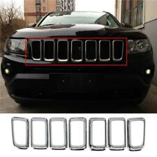 For Jeep Compass 2011-2016 Chrome Front Grille Vent Hole Grill Frame Cover Trim
