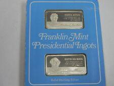 Franklin Mint Presidential Ingots Proof set- Andrew Jackson & Martin Van Buren
