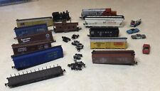 N Scale -Train Lot - Parts or Repair - Switcher - Locomotive - Various Cars
