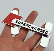 3D Auto Schriftzug Grill Frontgrill Emblem Plakette für Rote SUPERCHARGED Sports