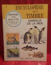 vintage 1967 Encyclopédie par le Timbre #12 Animaux de la Mer . sticker book