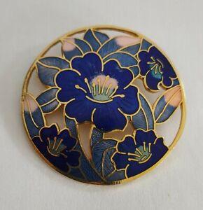 Vintage cloisonne enamel brooch