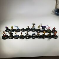 Heroclix Mixed Lot of 20 Marvel Mini Figures Hero Clix Wizkidsgames with cards
