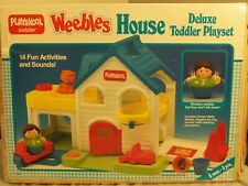 1989 Playskool Weebles House & Accessories With Box