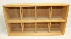 Vintage Napa Valley Wood 96 CD Holder Storage Rack Crate Display Box Shelf