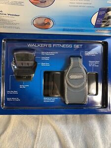 DEADSTOCK Vintage Flip Cell Phone Pedometer Armband Holder RARE Brand new SET