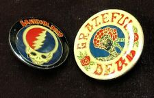 70'S Mouse Kelley Steal Your Face 2 Vintage Grateful Dead Rock'N'Roll Pins Late