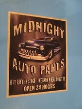 tin metal gasoline service station man cave advertising decor gas oil midnight