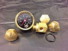 BRASS Rocker Box Shaft End BOLTS & Oil Pressure Gauge Ironhead Shovelhead black