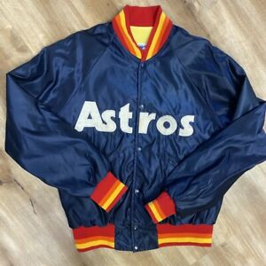 HOUSTON ASTROS VINTAGE 80s STARTER SATIN TEQUILA SUNRISE JACKET ADULT LARGE