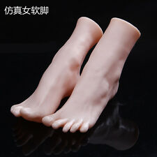 One Pair Female Soft PVC Mannequin Foot For Socks Display