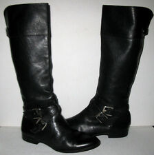 Calvin Klein Womens Hayden Tumbled Leather Riding Equestrian Boots Shoes sz 7 M