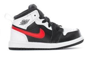 🔥Nike Air Jordan 1 Mid TD Black Chile Red White BRED Chicago Baby Toddler sz 9c