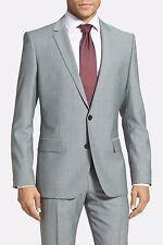 Hugo Boss Men's Amaro/Heise Pure Wool 2 Button GREY Blazer Size 40R C3268