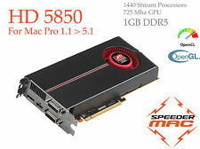  AMD Radeon HD 5850 1 GB DDR5 for Mac Pro 1..1 to 5.1 as 5870 & 4870 5Gt/s  4k
