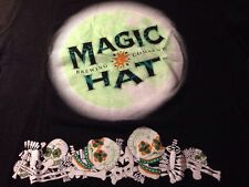 Magic Hat Ladies Large Glow-in-the-dark T Shirt Day Of The Dead Halloween Rare