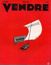 ▬►MARKETING PUBLICITÉ  -- VENDRE N° 204 (FÉVRIER 1947) --  COVER FRANÇOIS VIÉ