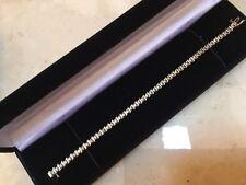 "14K Yellow Gold Diamond Tennis 71/8"" Bracelet - Stunning MUST SEE"