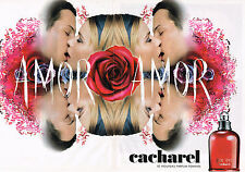 PUBLICITE ADVERTISING 045  2003  CACHAREL  parfum femme AMOR AMOR ( 2 pages)