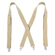 Mens Suspender Adjustable X/Y-back Shape Clip-On Trouser Braces Belt Elastic