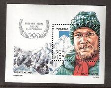 Poland 1988 Kukuczka, Himalayas Mountain Climber Olympic Medal Souvenir SC# B148