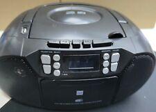 Dual DAB-P 210 Boombox Kassettenradio DAB+, UKW CD, Kassette, AUX-in USB Schwarz
