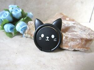 Black Cat Phone Ring Finger Grip Stand -Universal Kitty Cell Phone Kawaii Holder