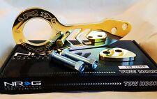 NRG Rear Tow Hook Kit Honda & Acura Universal JDM Style (GOLD)