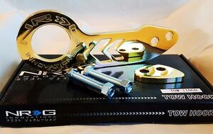 NRG Rear Tow Hook Kit FOR Honda & Acura Universal JDM Style (GOLD)