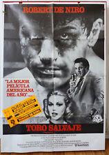RAGING BULL Scorsese RARE movie poster Spanish 1980 DE NIRO BOXING