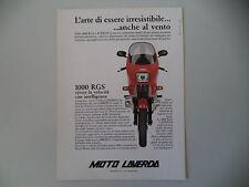 advertising Pubblicità 1983 MOTO LAVERDA 1000 RGS
