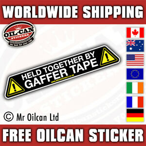 Held together with gaffer tape car sticker, bumper decal 180mm wide ratlook vw