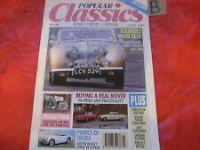 beliebten Classics Magazin Juli 1991 Rover p6-forgotten jags-frog eye-stars Cars