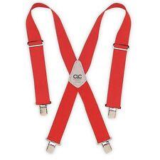 Custom LeatherCraft 110RED Heavy Duty Work Suspenders, Red