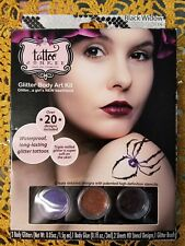 BLACK WIDOW GLITTER BODY ART KIT Tattoo Junkee Temporary Halloween Costume NEW
