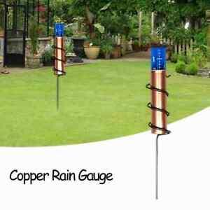 World's Coolest Copper Rain Gauge. Accurate Floating Rain Gauge for Lawn, Garden
