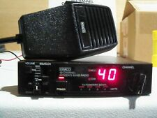 Kraco 40 channel am mobile radio with mic & power cord & manual. Works great!