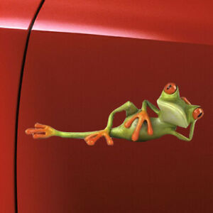 3D Funny Lying Frog For Auto Car Body Windshield Vinyl Decal Graphic Sticker x1