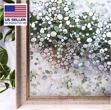 Decorative Privacy Window Film, Anti-UV, Static Window Cling, Rainbow Dot